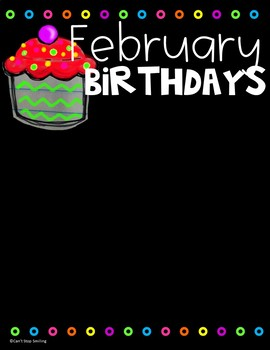 FREE Editable Birthday Charts Easy to Fit Easy to Display