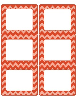 FREE Editable Chevron Labels-6 pages to Match Common Core Poster Sets