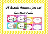 FREE Editable Classroom Jobs