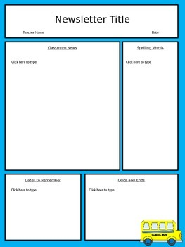 Free editable classroom newsletter template power point tpt free editable classroom newsletter template power point toneelgroepblik