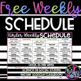 FREE Editable Daily Schedule