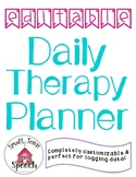 FREE- Editable Daily Therapy Planner- SLP, OT, PT
