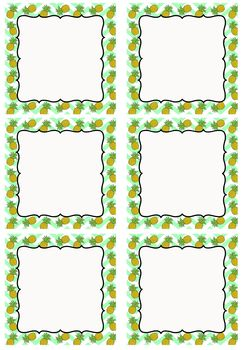 FREE Editable Decoration Mini Pack - Pineapples