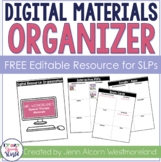 FREE Editable Digital Materials Organizer