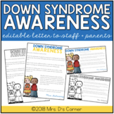 FREE Editable Down Syndrome Awareness Letter