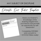 FREE Editable Exit Ticket Template