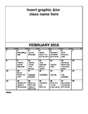 FREE Editable February Lesson Overview Calendar (Montessor