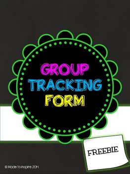 FREE Editable Group Tracking Form