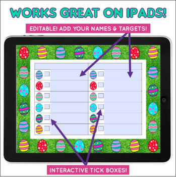 FREE Editable & Interactive Easter Game - NO PRINT- Speech and Language Therapy