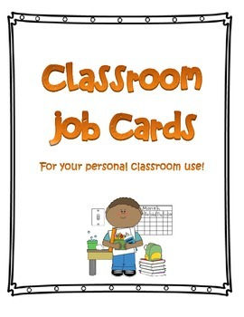 FREE Job Cards for Elementary Classroom Students
