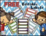 Editable Labels for Classrooms | Ocean Theme Labels EDITABLE