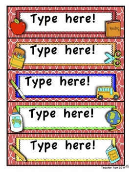 Halloween Labels EDITABLE | Editable Labels for Classrooms