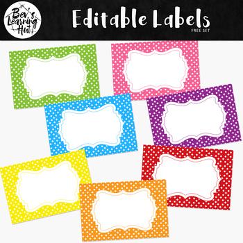 FREE Editable Labels