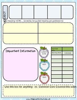 FREE Editable Lesson Plan Template By Elementary Lesson Plans TpT - Lesson plan template for preschool