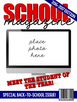 {FREE!} Editable Magazine Covers for Back-To-School