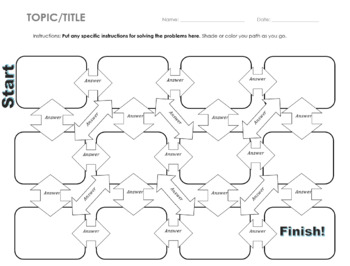FREE Editable Maze Template