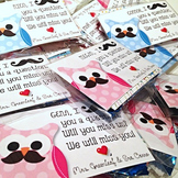FREE Editable OWL Mustache Moustache End of the Year Gift Tags