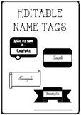 FREE Editable Name Tags/Badges