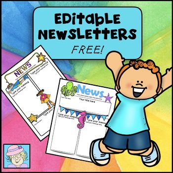 newsletter template editable superhero and ocean free by teacher tam