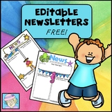 Newsletter Template EDITABLE Superhero and Ocean FREE