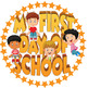 "FREE!  Editable PDF Badges. My First Day of School 2"" Diameter Badge/Sticker"