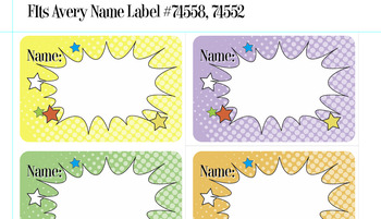 FREE!  Editable PDF Nametags for Avery Name Label #74558, #74552
