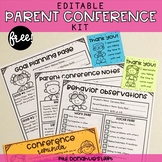 FREE Editable Parent Conference Kit