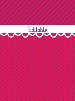FREE Editable Pink & Purple Binder Cover
