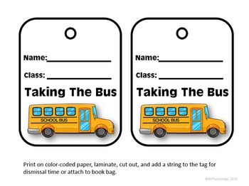 FREE Editable PowerPoint Dismissal Tags for Elementary Schools