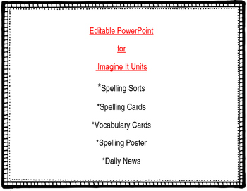 FREE -Editable PowerPoint for Imagine It Reading Focus Walls