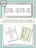 FREE! Editable Question or Fact Cube