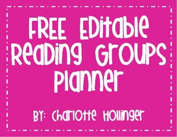 FREE Editable Reading Group Planner