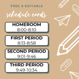 FREE Editable Schedule Cards