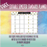 FREE Editable Semester Standards Planner
