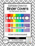 FREE Editable Shaded Chevron Binder Covers {A Hughes Design}