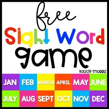 FREE Editable Sight Word Game