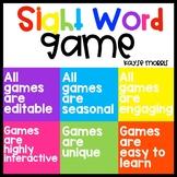 FREE Editable Sight Word Game