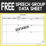 FREE Editable Speech Group Data Sheet