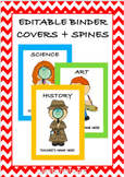 FREE Editable Subject Binder Covers and Spine