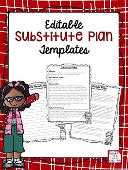 FREE Editable Substitute Plan Templates