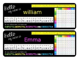 FREE Editable Table Name Labels