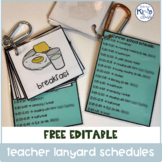 FREE Editable Teacher Lanyard Templates