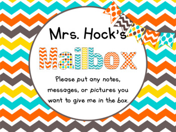FREE Editable Teacher Mailbox Label in Candy Colors Theme