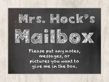 FREE Editable Teacher Mailbox Label in Chalkboard Theme