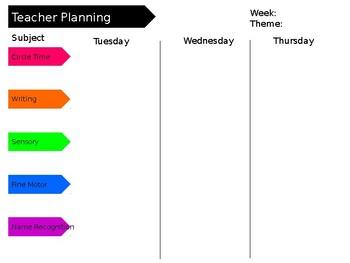 free editable teacher planning sheet by lizard s school tpt