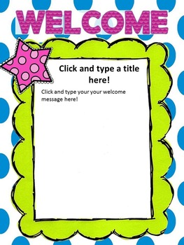 FREE Editable Welcome Stationary (Great for Open House!)