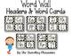 Editable Word Wall Headers & Word Cards {BLACK & WHITE POL