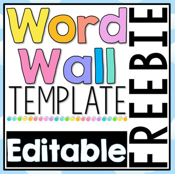 Free editable word wall template by clever classroom tpt for Bulletin board template word