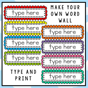 word wall template printable - free editable word wall template by clever classroom tpt