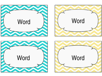 FREE Editable Word Wall Words